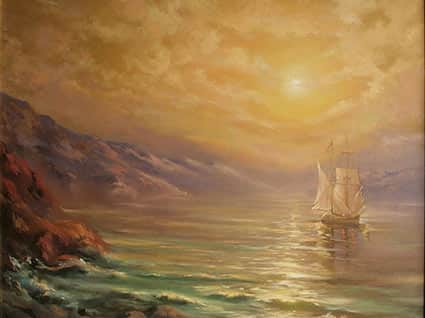 Пейзаж золотая бухта