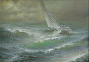 Пейзаж морской волны