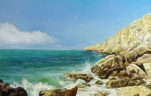 Пейзаж скалистый берег