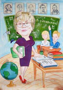 Шарж на преподавателя